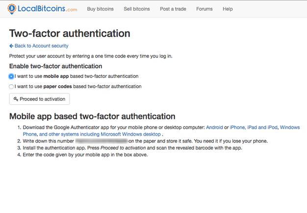 Visit the two-factor activation page and choose I want to use mobile app  based two-factor authentication.